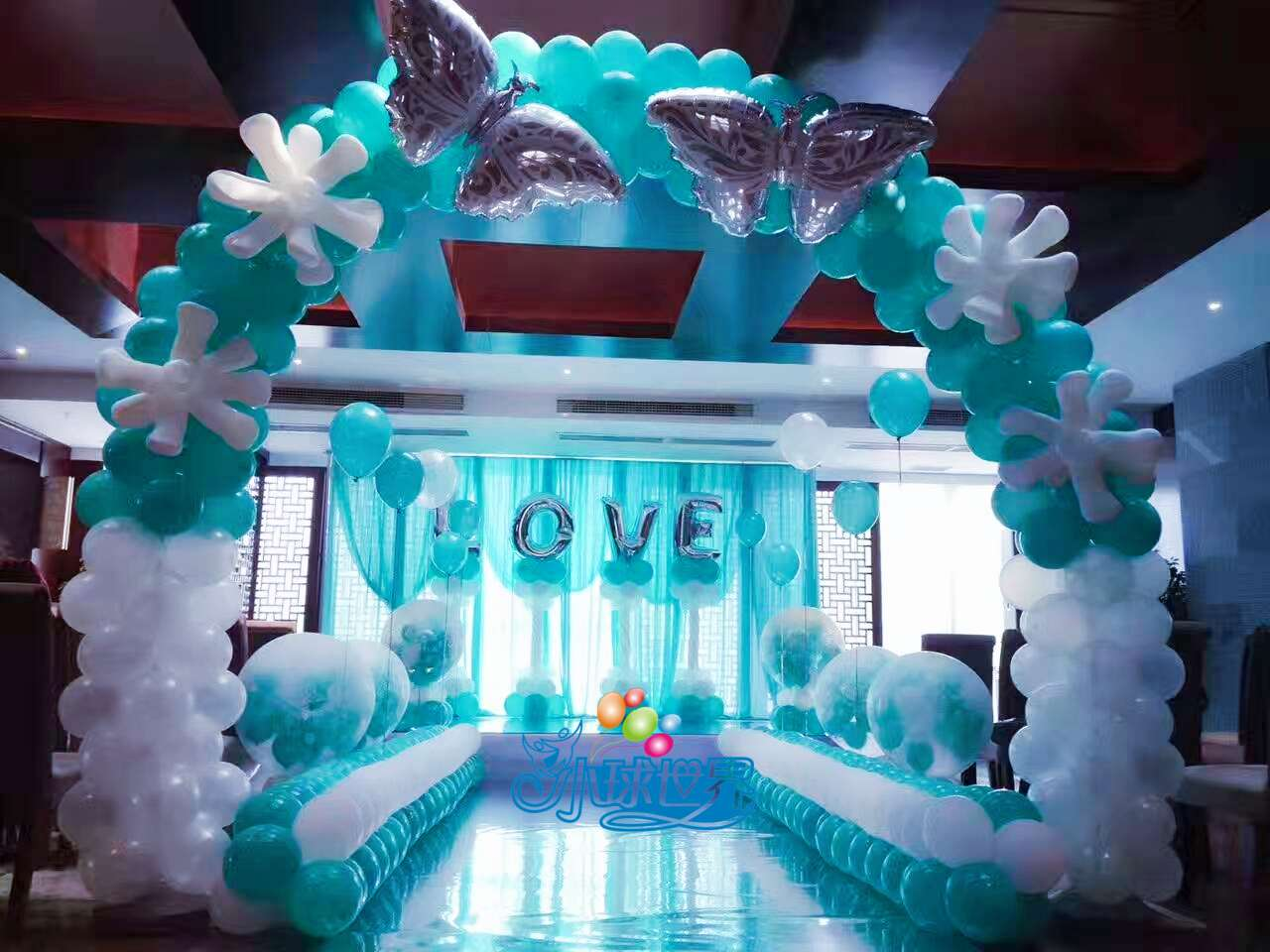 重庆婚礼气球装饰,婚房布置,求婚订婚场地布置